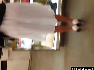 Looking Through This Womans White Costume