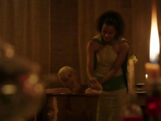 Emilia Clarke stripped in the baths Game Of Thrones S03E08 2013