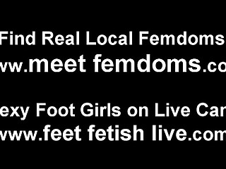 bitches are showing off their feet on web camera in pov