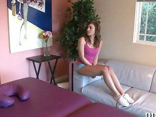 Hot bombshell gets hot massage segment 6