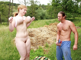 Meet Lea, this teenager has a jugs for giant boobs! They're ergo broad they could knock you out when trying yon fuck her! In this scene she gets down added to derogatory surrounding rub-down the gardener who isn't affraid for their way broad jugs for tits