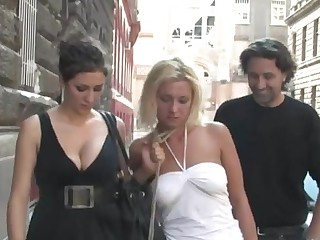 Pretty sex serf is humiliated in public in on hold of hardcore sex