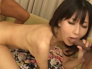 Horny Japanese unspecific gets her cum-hole sloppy with large sex-toy