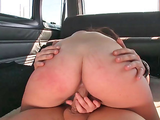 Dreamy Latina enjoys having rough kinky sex in a van