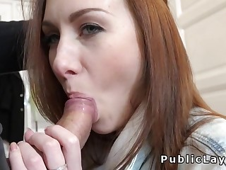 Euro student sucks and fucks for top-hole