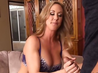 Ms. Love tries nigh massage the tension out of him