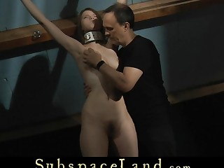 Servitude slave punished in an obstacle attic