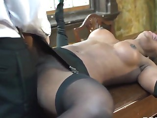 Danny D fucks babel pitch-black Jasmine Webb