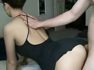 Young well done wife in homemade video
