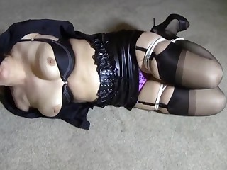 Gagged sexy slut chagrined by her hot mistress