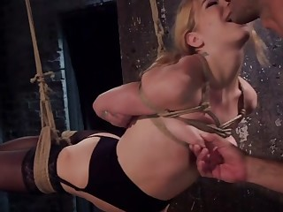Anal Slut Trained in Hard Bondage: Alina West Day Yoke - TheTrainingofO