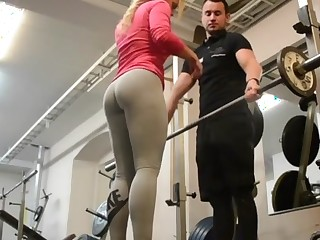 wow!!! fitness hot Arse hot blonde