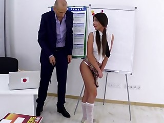 Cindy in Cindy gets her grades up unconnected with fucking her old teacher - TrickyOldTeacher
