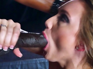A black man is pushing his meaty cock median a hot blonde