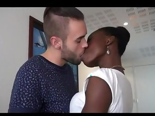 Hot interracial couple having a nice fuck maturity