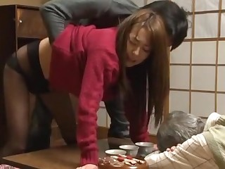 Fabulous Japanese sculpt Akari Minamino, Marin Nagase in Incredible Wife JAV movie