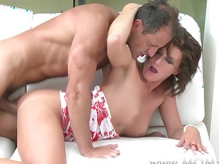 Old lady xxx: Hot mature lady fucks deeply with passion