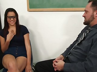 Aria Arial & Alec Manly in Naughty Tome Worms