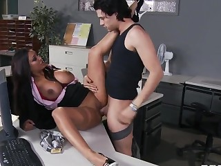 Ravishing super secretary Priya Anjali Rai seduces her chief's son Xander Corvus in the assignment