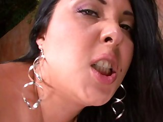 A fine woman is placing her down in the mouth ass done with a broad pecker