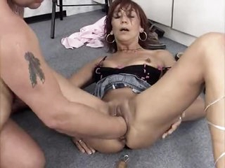 He fucks the whore and fists her hard