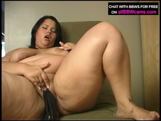 Oriental bbw shelsea fucks herself with thong