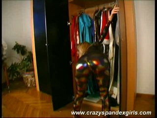 Magdi wears glittery spandex !!