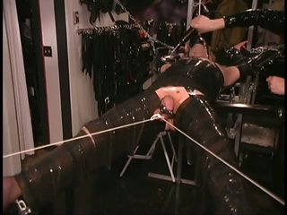 Blonde Cross Dresser Gets Bound Up Previous to Receiving a Ball Torture