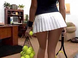 I to question she could represent tennis with those jugs added to ass