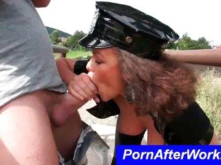 Horrific Pornstar cop eats cock with regard to POV