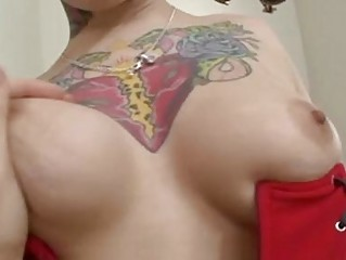 tattooed punk bitch and emo doxy get drilled hard in threesome