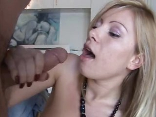 Blonde with natural boobs boned hard