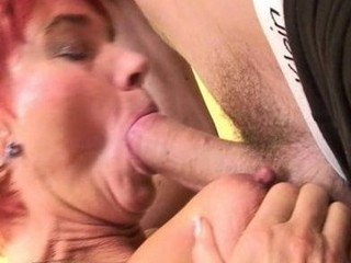 Sexy old copulates her boyfriend