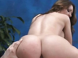 Sweet babe can't live without massage with the addition of big cock  in her pussy