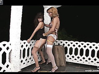 Adrielly&Patricia perverted t-girl on movie scene