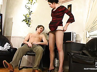 Rosa&Gilbert perverted pantyhose job movie
