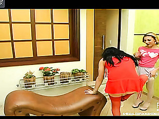 Mylena&Kalena sexy shemales on movie scene