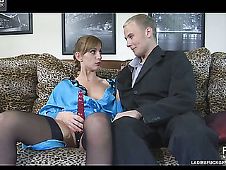 Pervy tolerant invites her male cohort increased by tortuosities him into her desirous anal wench