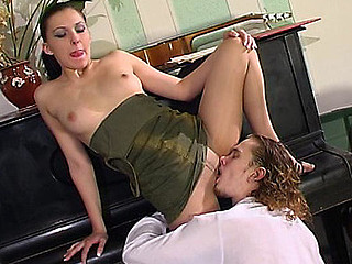 Laura&Mike mindblowing pantyhose video