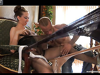 Emm&Herbert awesome pantyhose job scene