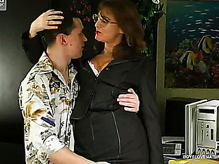 Bridget&Connor red sexy older clip