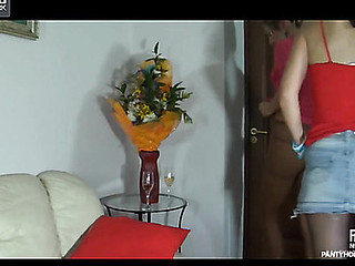 Laura&Nora lustful pantyhose episode scene