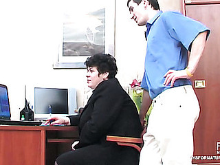 Crummy mommy i'd like to mad about squeezing her globes during the time that object drilled away from younger co-worker