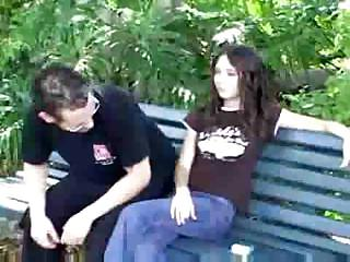 Petite Brunette Gets Drilled