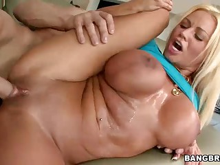 MILF Nikita Jaymes with huge jugs gets slammed