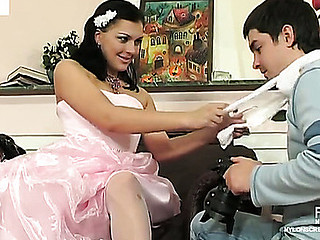 Laura&Adam sexy nylon movie instalment