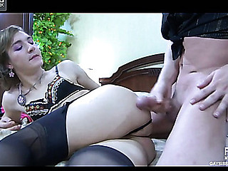 Paul&Silvester cockloving crossdresser on movie scene