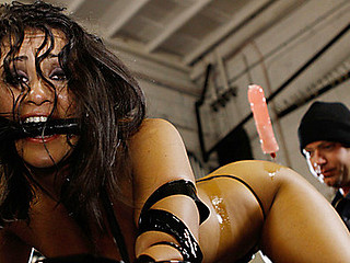 Gushing angel gets fucked in garage!
