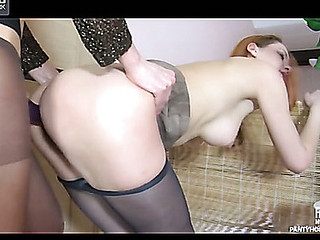 Salome&Elvira remain pantyhose action