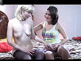 Amelia B&Charlotte pussylicking mamma on movie scene scene